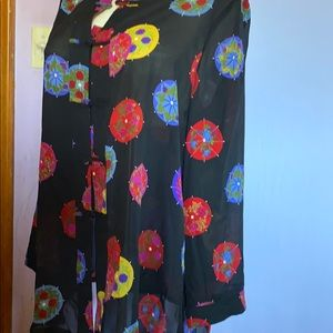 Vintage Leslie Belle Asian Inspired blouse